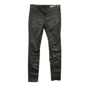 rag & bone Pewter Metallic Wash Legging Jeans